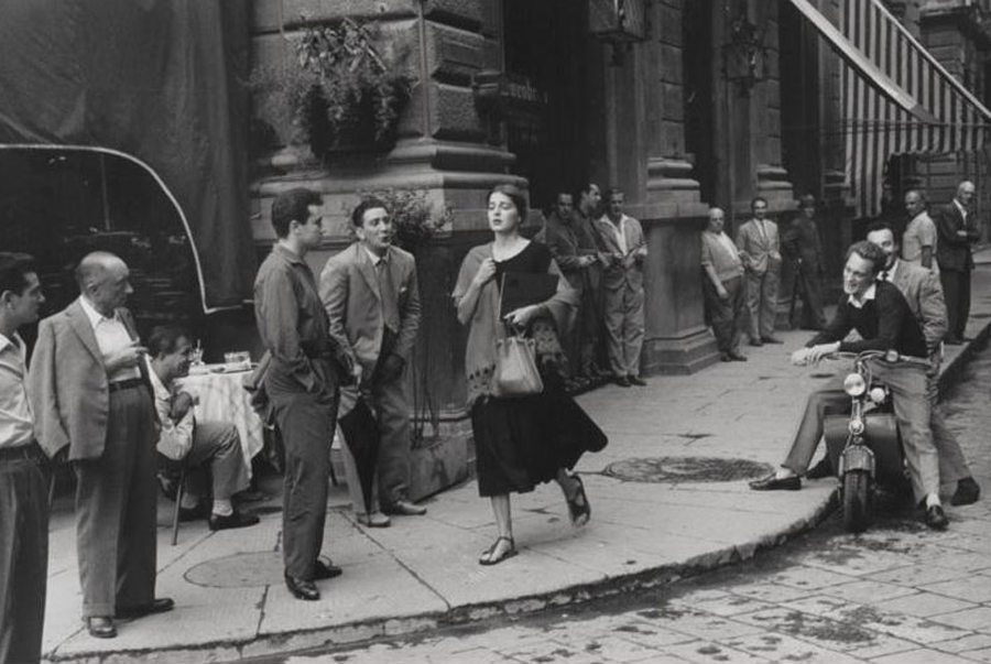 Ruth Orkin, An American Girl in Italy, mural-sized gelatin sliver print, 1951