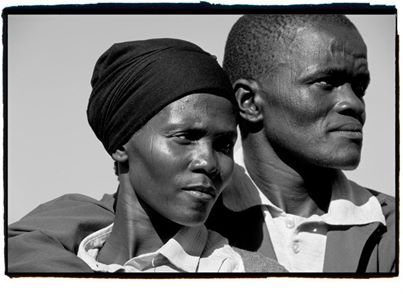 South African Gold Miner and His Wife