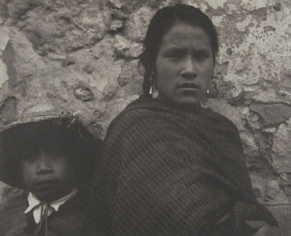 Young Woman and Boy - Toluca